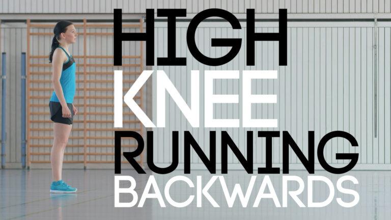 High Knee Running Backwards